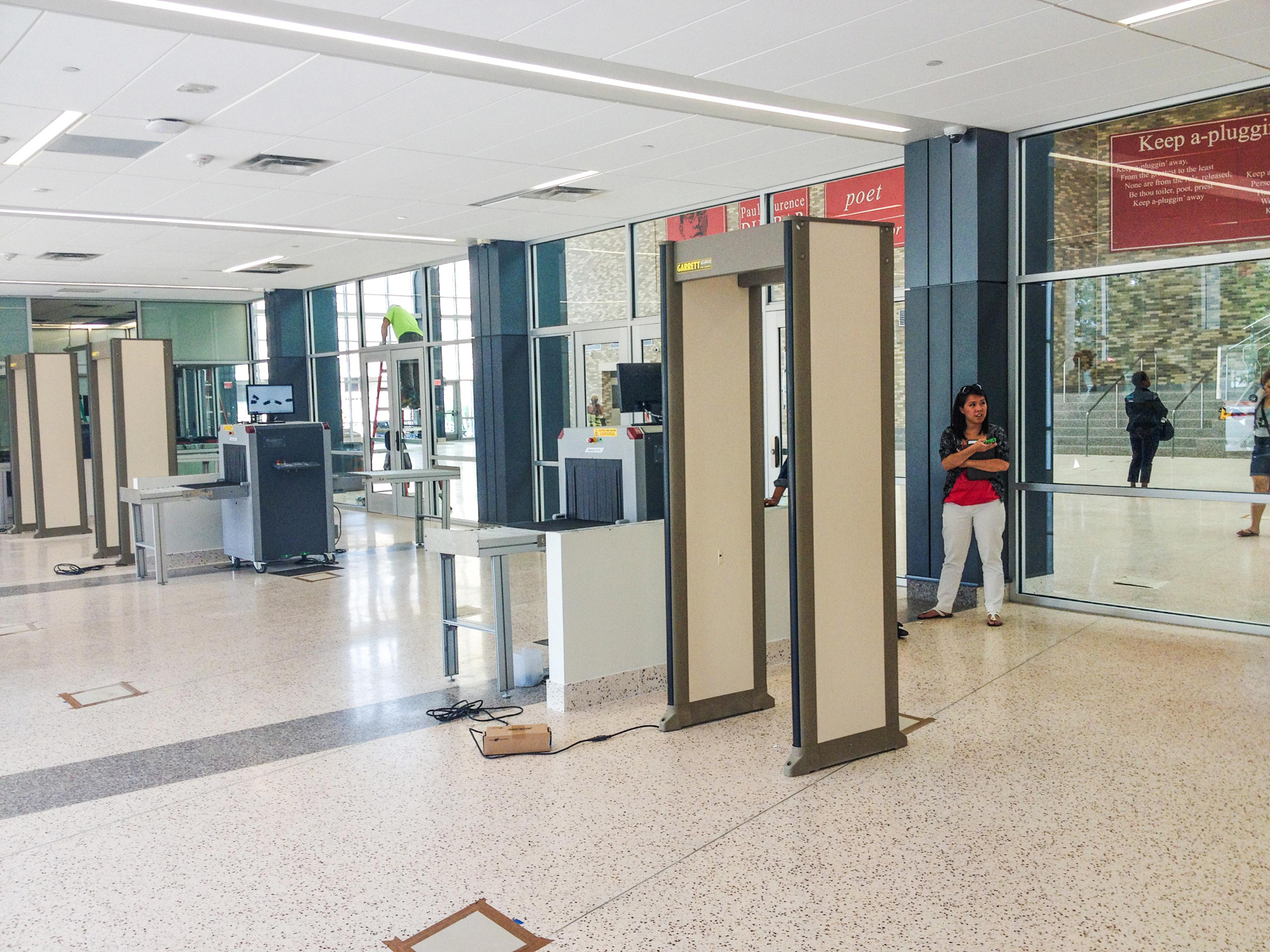 Security metal detector school - Dunbar High School Vestibule This Area Contains Metal Detectors X Ray Machines And Video Surveillance 2013 Photo By Author